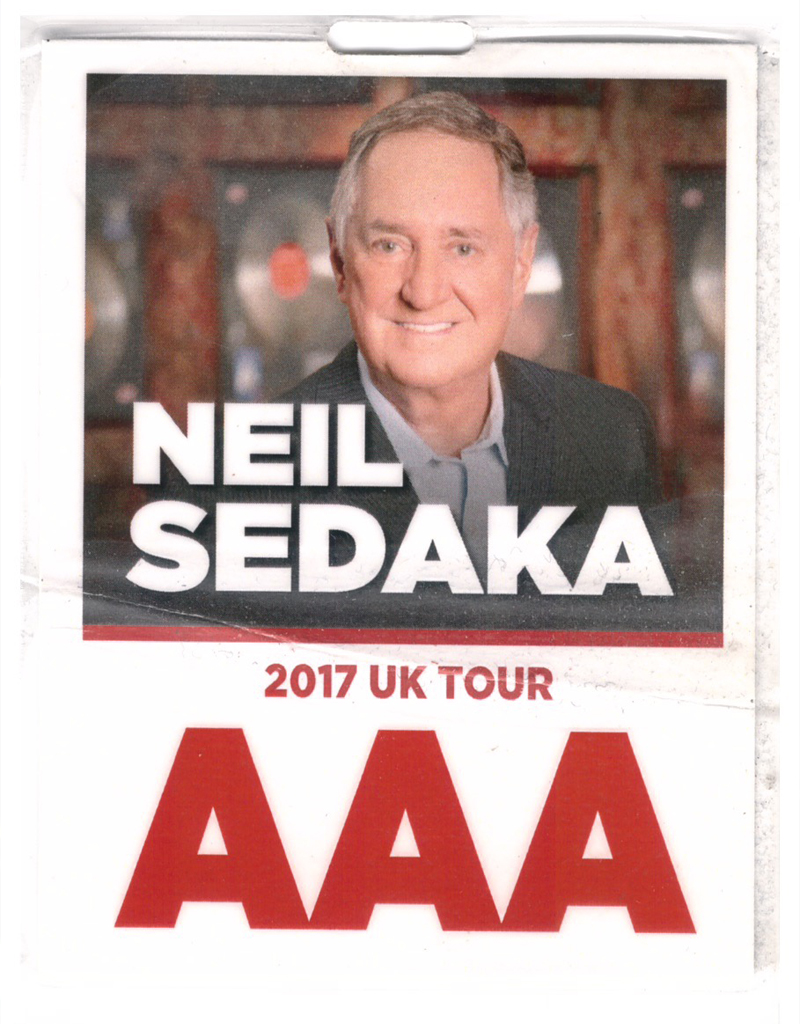 Neil Sedaka - UK Concert Hall Tour - AAA Pass